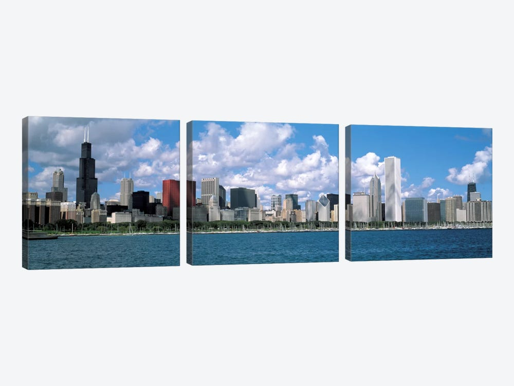 CloudsChicago, Illinois, USA by Panoramic Images 3-piece Canvas Art