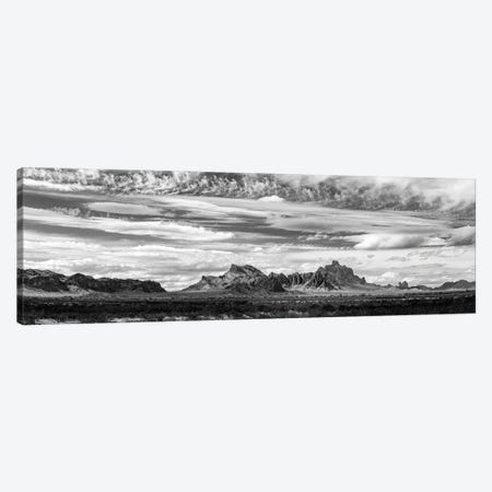 Black And White Landscape With Eagletail Mountains, Arizona, USA Canvas Print #PIM15925} by Panoramic Images Canvas Art