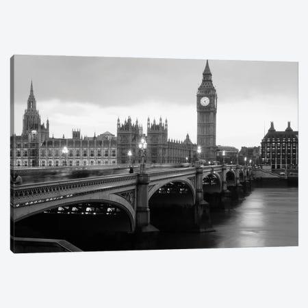 Bridge Across A River, Westminster Bridge, Houses Of Parliament, Big Ben, London, England Canvas Print #PIM15929} by Panoramic Images Art Print