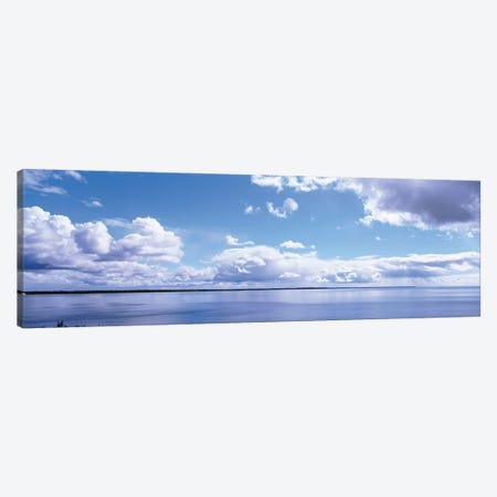 Clouds Over The Lake, Route 2, Lake Michigan, Michigan, USA Canvas Print #PIM15940} by Panoramic Images Canvas Art Print