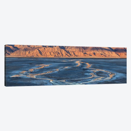 Cottonball Basin Salt Flats, Panamint Range, Death Valley National Park, California, USA Canvas Print #PIM15942} by Panoramic Images Art Print