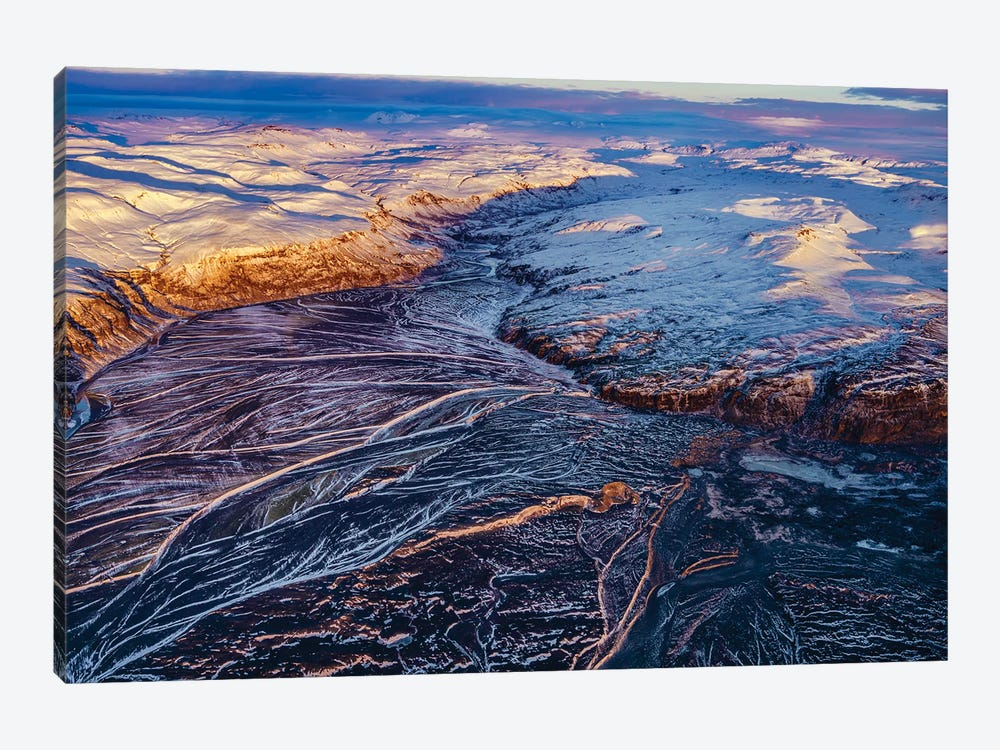 Glacial Landscapes, Vatnajokull National Park, Vatnajokull Ice Cap, Iceland. by Panoramic Images 1-piece Canvas Art Print