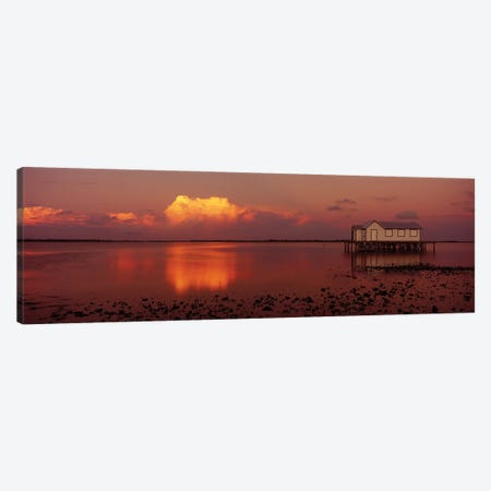 Fishing Hut At Sunset, Pine Island, Hernando County, Florida, USA Canvas Print #PIM15948} by Panoramic Images Canvas Print