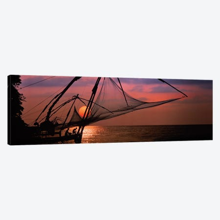Fishing Nets Cochin India Canvas Print #PIM15949} by Panoramic Images Canvas Print