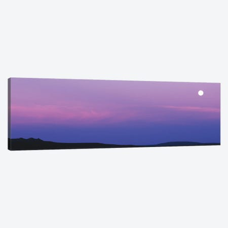Full Moon Setting Over Tres Orejas, New Mexico, USA Canvas Print #PIM15955} by Panoramic Images Art Print