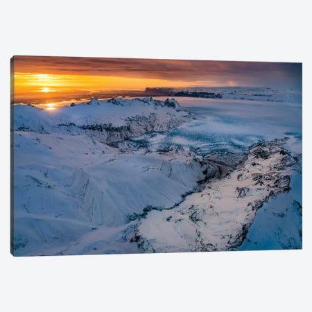 Glacial Landscapes, Vatnajokull Ice Cap, Vatnajokull National Park, Iceland. Unesco World Heritage Site. Canvas Print #PIM15957} by Panoramic Images Art Print