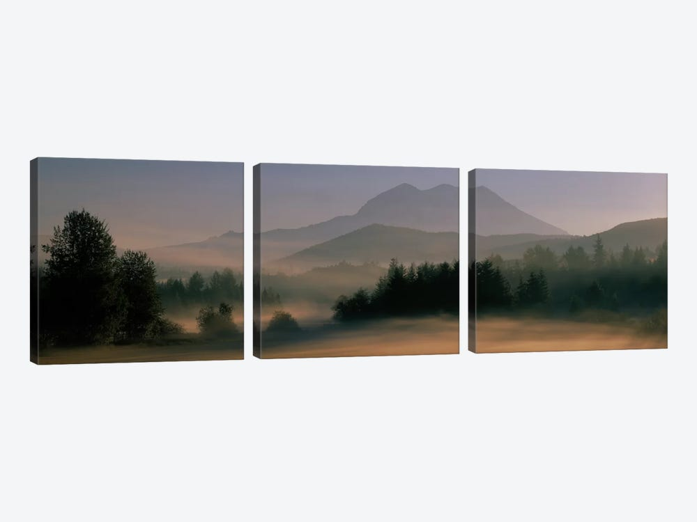 Sunrise, Mount Rainier Mount Rainier National Park, Washington State, USA by Panoramic Images 3-piece Canvas Wall Art
