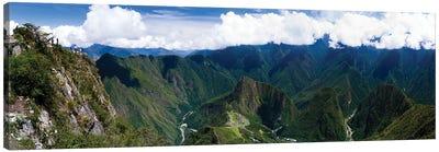 Incan Ruins Of Machu Picchu And Huayna Picchu Peak, Aguas Calientes, Peru, South America Canvas Art Print