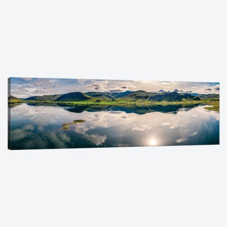 Landscape Mt Medalfell, Lake Medalfellsvatn, Iceland Canvas Print #PIM15967} by Panoramic Images Canvas Wall Art