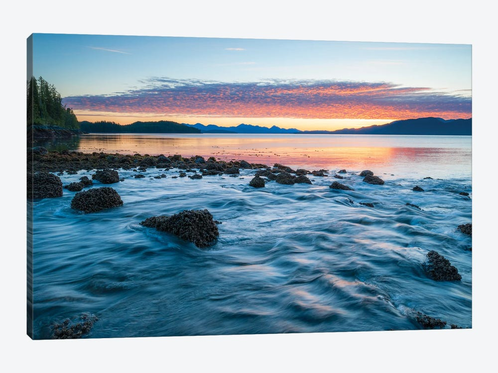 Landscape With Coastline Under Moody Sky At Sunset, British Columbia, Canada by Panoramic Images 1-piece Canvas Print