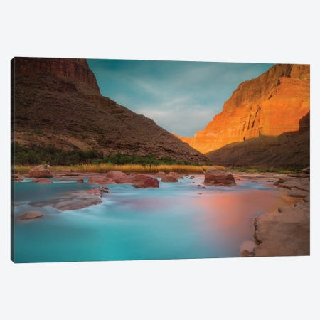 Landscape With Little Colorado River In Canyon, Chuar Butte, Grand Canyon National Park, Arizona, USA Canvas Print #PIM15974} by Panoramic Images Canvas Art Print