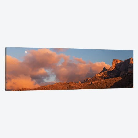 Landscape With Mountains With Cliffs At Sunset, Santa Catalina Mountains, Coronado National Forest, Arizona, USA Canvas Print #PIM15979} by Panoramic Images Canvas Art