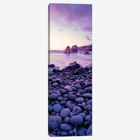 Landscape With Pebbles On Seashore At Sunset, Garrapata State Park, Big Sur, California, USA Canvas Print #PIM15980} by Panoramic Images Art Print