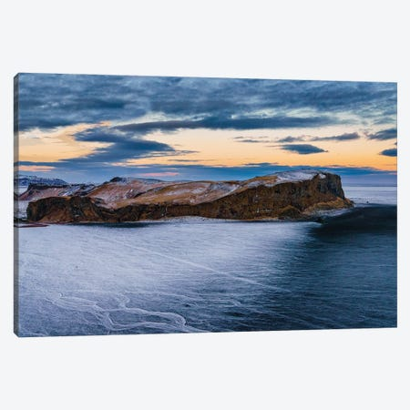 Landscape, Hjorleifsholfdi, South Coast, Iceland. The Mountain Is Located On The Myrdalssandur Outwash Plain Near Vik. Canvas Print #PIM15987} by Panoramic Images Canvas Wall Art