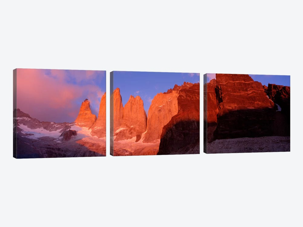 Parque National Torres del Paine Patagonia Chile by Panoramic Images 3-piece Canvas Print