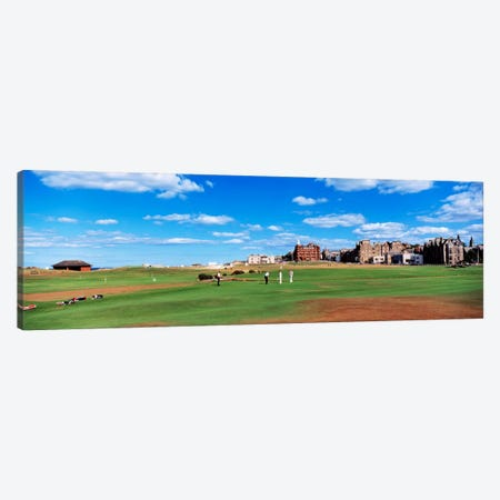 Old Course, Royal And Ancient Golf Club Of St. Andrews, St. Andrews, Scotland, United Kingdom Canvas Print #PIM159} by Panoramic Images Canvas Wall Art