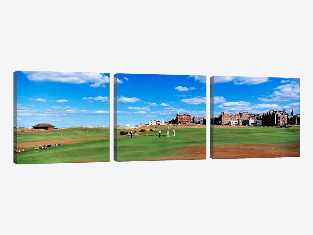 Old Course, Royal And Ancient Golf Club Of St. Andrews, St. Andrews, Scotland, United Kingdom by Panoramic Images 3-piece Canvas Print