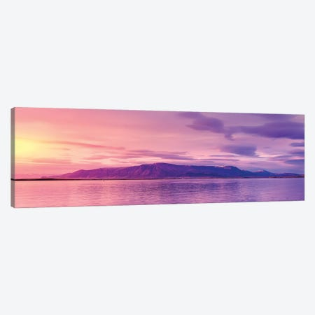 Mt Esja At Sunset, Reykjavik, Iceland Canvas Print #PIM16001} by Panoramic Images Canvas Wall Art