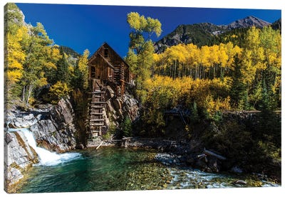Old Mill On The Crystal River, Crystal, Colorado, USA Canvas Art Print
