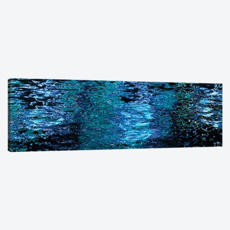 Reflections In Water Surface At Night 3-Piece Canvas #PIM16015} by Panoramic Images Canvas Art