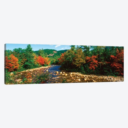 River Flowing Through A Forest, Swift River, White Mountain National Forest, Carroll County, New Hampshire, USA Canvas Print #PIM16016} by Panoramic Images Canvas Art