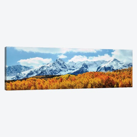 Snow Covered Mountain Range, San Juan Mountains, Colorado, USA Canvas Print #PIM16026} by Panoramic Images Canvas Art Print