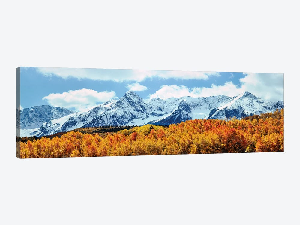 Snow Covered Mountain Range, San Juan Mountains, Colorado, USA 1-piece Canvas Artwork