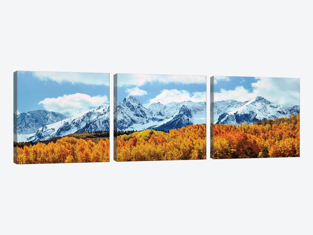 Snow Covered Mountain Range, San Juan Mountains, Colorado, USA by Panoramic Images 3-piece Canvas Art