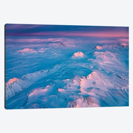 Sunset Over Mountains, Vatnajokull National Park, Iceland Unesco World Heritage Site. Canvas Print #PIM16029} by Panoramic Images Canvas Artwork
