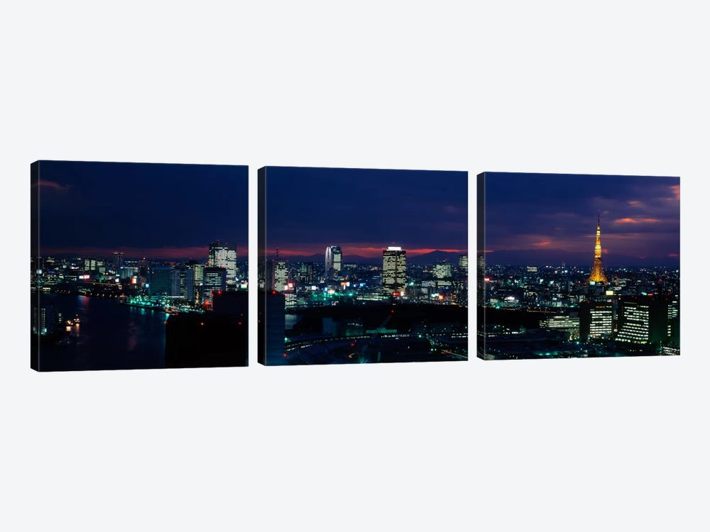 Tokyo Tower Tokyo Japan by Panoramic Images 3-piece Canvas Artwork