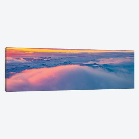 Sunset Over Mountains, Vatnajokull National Park, Iceland Unesco World Heritage Site. Canvas Print #PIM16030} by Panoramic Images Art Print