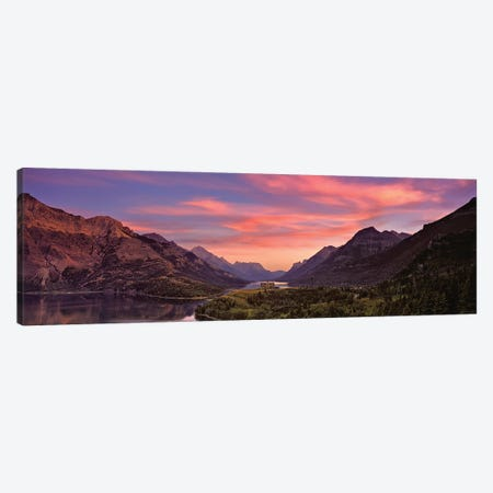 Sunset Over Prince Of Wales Hotel In Waterton Lakes National Park, Alberta, Canada Canvas Print #PIM16031} by Panoramic Images Art Print