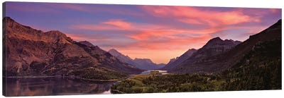 Sunset Over Prince Of Wales Hotel In Waterton Lakes National Park, Alberta, Canada Canvas Art Print