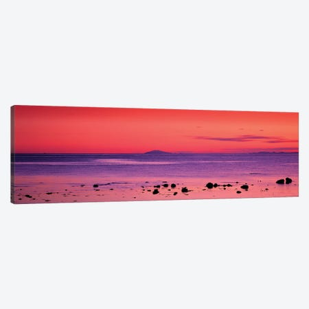 Sunset Over Snaefellsjokull Glacier, Iceland Canvas Print #PIM16032} by Panoramic Images Canvas Art Print