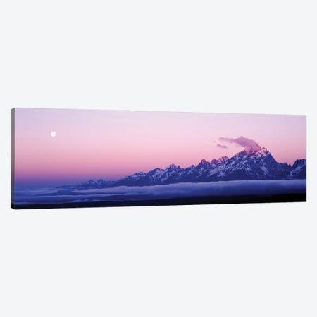Teton Range Grand Teton National Park WY Usa 3-Piece Canvas #PIM16037} by Panoramic Images Canvas Artwork