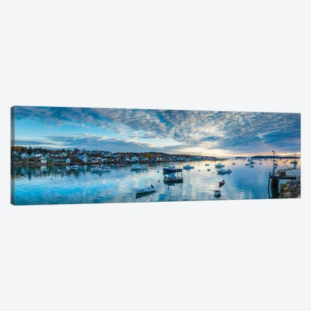 Usa, Maine, Stonington, Stonington Harbor, Dawn Canvas Print #PIM16048} by Panoramic Images Canvas Art