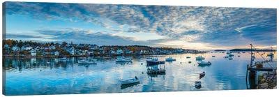 Usa, Maine, Stonington, Stonington Harbor, Dawn Canvas Art Print