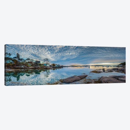 Usa, Maine, Stonington, Stonington Harbor, Dawn Canvas Print #PIM16049} by Panoramic Images Canvas Artwork