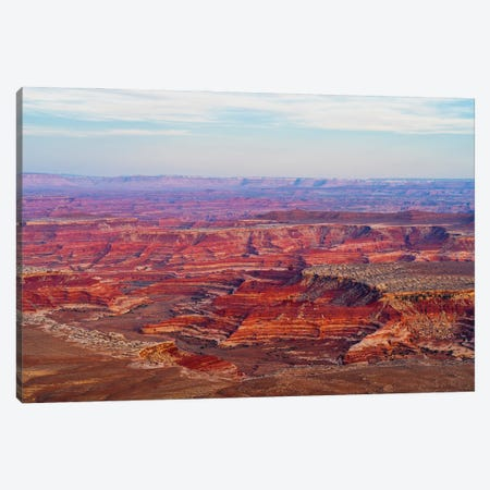 View Of Canyon From Panorama Point, Maze District Of Canyonlands National Park, Wayne County, Utah, USA Canvas Print #PIM16054} by Panoramic Images Canvas Art