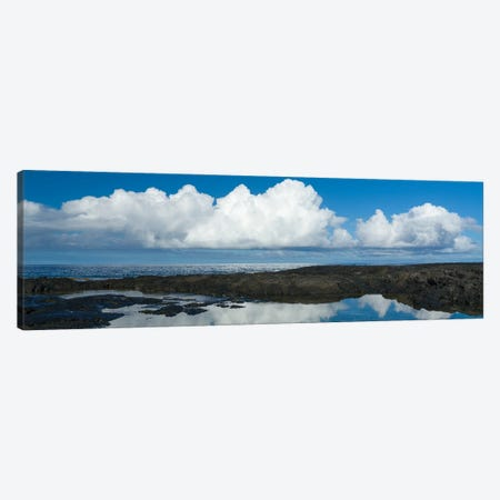 View Of Cloud Reflected In Sea, Pacific Ocean, Pu Uhonuna O Honaunau National Park, South Kona, Hawaii, USA Canvas Print #PIM16055} by Panoramic Images Canvas Art