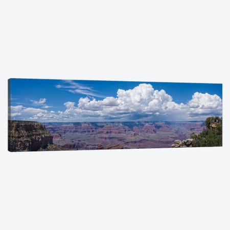 View Of Clouds Over Canyon, Grand Canyon, Arizona, USA Canvas Print #PIM16056} by Panoramic Images Canvas Artwork