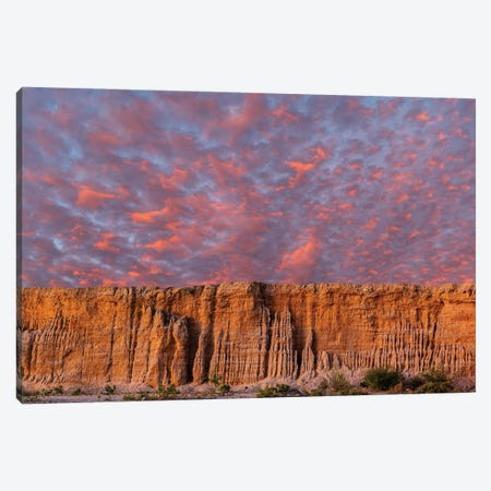 View Of Cloudscape Over Rock Formation, Baja California Sur, Mexico Canvas Print #PIM16057} by Panoramic Images Canvas Artwork