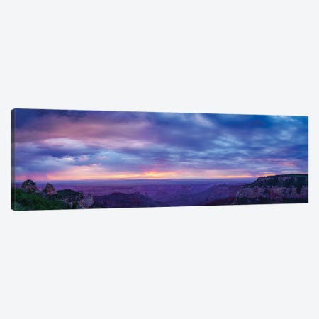 View Of Dramatic Sky Over Canyon, Grand Canyon, Arizona, USA Canvas Print #PIM16058} by Panoramic Images Canvas Print