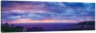 View Of Dramatic Sky Over Canyon, Grand Canyon, Arizona, USA Canvas Art Print