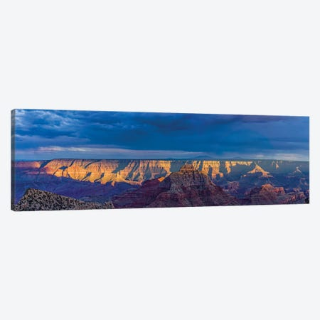 View Of Dramatic Sky Over Canyon, Grand Canyon, Arizona, USA Canvas Print #PIM16059} by Panoramic Images Canvas Art Print