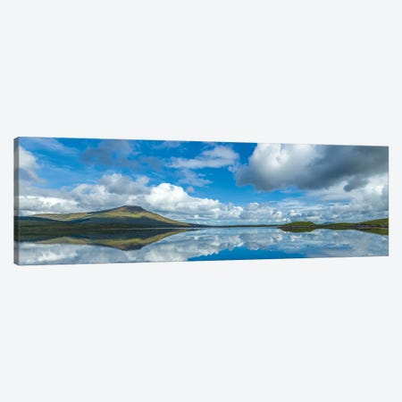 View Of Lake And Clouds On Sky, Bellacragher Bay, County Mayo, Ireland 3-Piece Canvas #PIM16060} by Panoramic Images Canvas Art