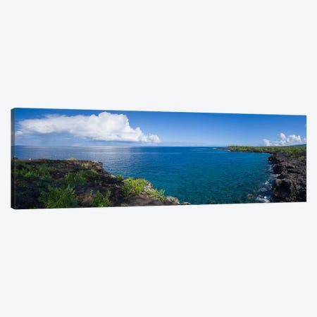 View Of Sea And Coastline, South Kona, Hawaii, USA Canvas Print #PIM16065} by Panoramic Images Canvas Print