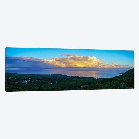 View Of Sea And Coastline, South Kona, Hawaii, USA Canvas Print #PIM16066} by Panoramic Images Art Print
