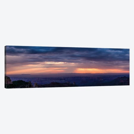 View Of Sunlight Through Clouds, Grand Canyon, Arizona, USA Canvas Print #PIM16067} by Panoramic Images Canvas Art Print