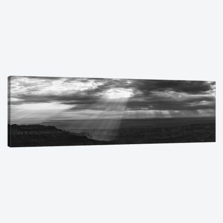 View Of Sunlight Through Clouds, Grand Canyon, Arizona, USA Canvas Print #PIM16068} by Panoramic Images Canvas Wall Art